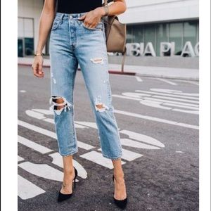 Levi's 517 High Waisted Cropped Jeans